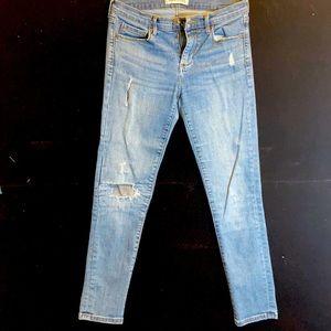 Banana Republic skinny distressed denim jeans